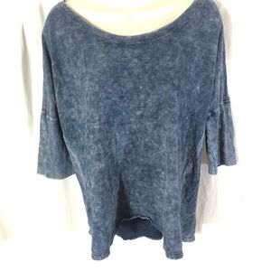 🥑Anthropologie Cloth & Stone Mottled Cotton Top
